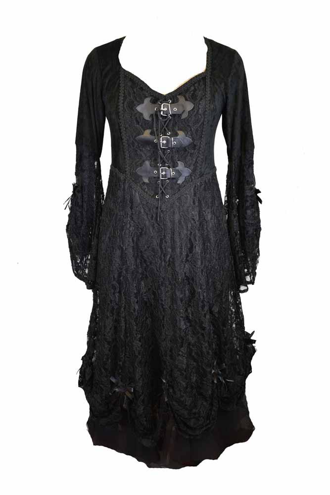 4c53d4aac02 Dress Black Long Lace Size 14