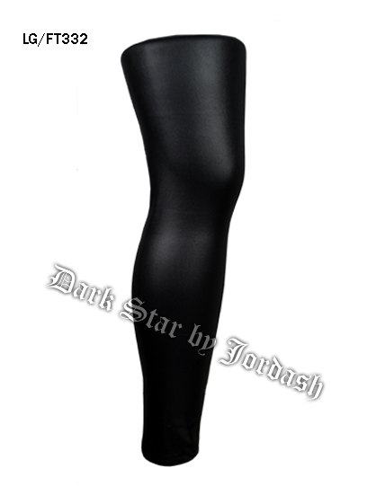 Plain Black Wet-Look Leggings DS/Lg/Ft332