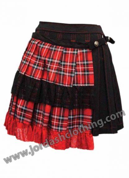 Dark Star Skirt Black And Red