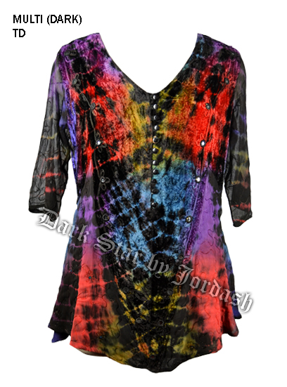 Jordash Blouse Flaming Tie Dye