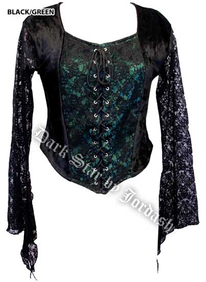 Dark Star Blouse Blk And Brown