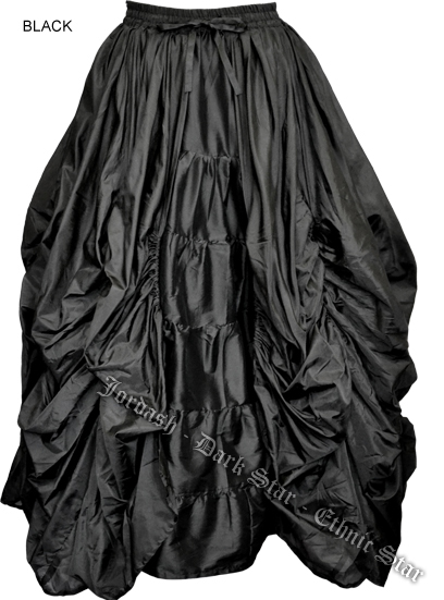 Skirt Long Layered Black