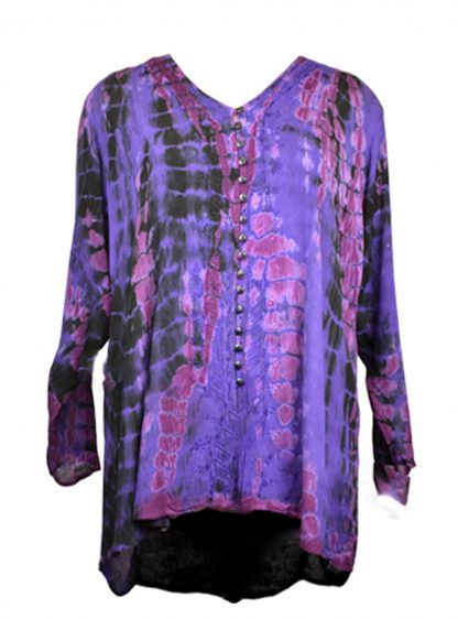 Jordash Blouse Purple Tie Dye