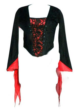 Dark Star Blouse Red S-M