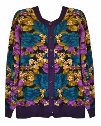 Cardigan Knitted L Purple One