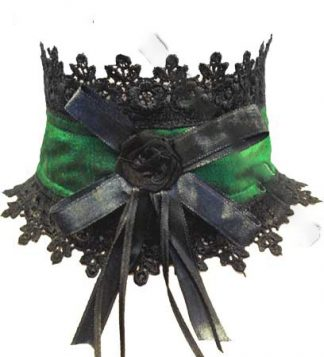 Choker in Green Dupion