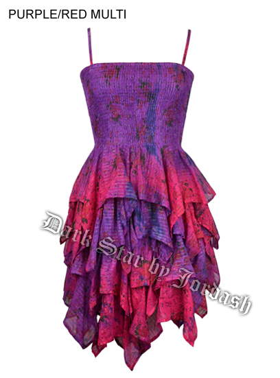 Jordash Dress Purple And Red