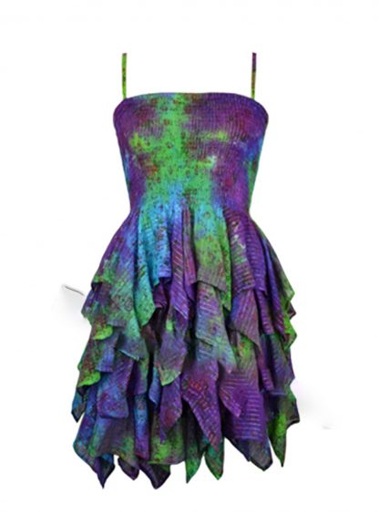 Jordash Dress Purple And Lime