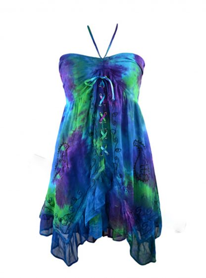 Jordash Dress Purple And Green