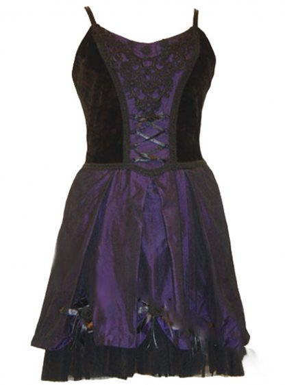 Dark Star Dress Blk And Purple