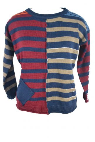 Jumper Knitted Blue One Size