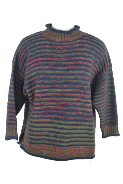 Jumper Knitted Purple One Size