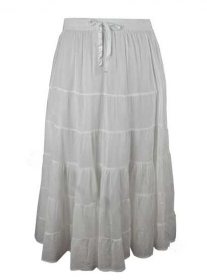 Skirt Long Terry Voil in White