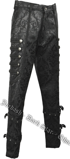Trouser Brocade Black Size 38