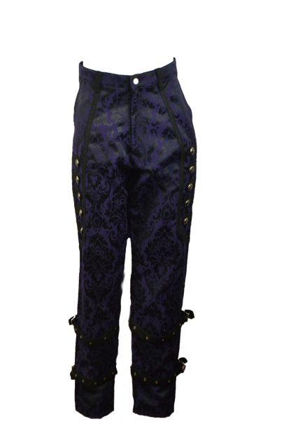 Trouser Brocade Purple Size 42