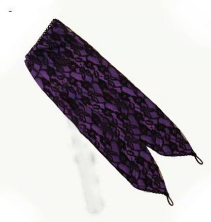 Gloves Purple With Lace