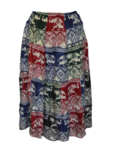 Skirt Printed Elasticated