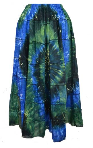 Skirt Long Tiered Green